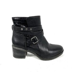 Naturalizer Black Leather Moto Boots!